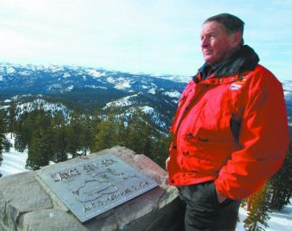 Seth Lightcap/Sierra SunThe Tahoe Nordic Search and Rescue team was founded in 1976 after noticeably unorganized rescue efforts hampered the search for 12-year-old Lance Sevison who perished off the backside of Northstar-at-Tahoe. Sevison's father, Larry, pictured here standing by the Northstar memorial to his son, purchased the rescue team's first ski cat and assisted in the creation of the program.