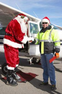 Santa will land at the Truckee Tahoe Airport at the annual Santa Fly-In event Dec. 14 at 10 a.m.