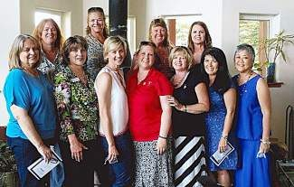 Soroptimist International Truckee Donner 2014-2015 officers and board. Top row from left: Kathy Neus, Susan Horst, Laura Mohun and Mary Meier.