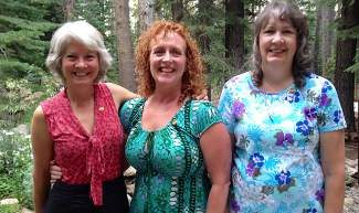 Soroptimist International of Truckee Donner welcomes new members (from left) Sue Sage, Lisa Fraas and Diana Whitten.