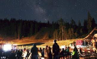 Dark Skies Cosmoarium offers Tahoe Star Tours participants comfortable seating, fire pits and outdoor heaters.