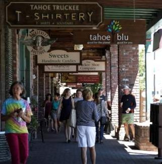 Crowds pack downtown Truckee earlier this month, helping to make summer business the best seen in recent years.