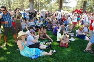 The crowd at the Truckee Optimist Brew Fest was more than 700 strong.