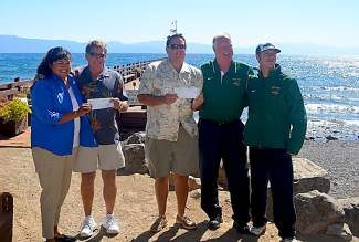 Gar Woods and the Monte Foundation  raised $14,000 to support North Tahoe sports programs.