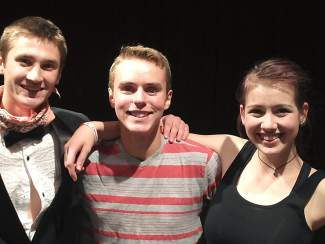 From left: Talent show winners Colin Deurlington (first), Eli Yale(second) and Victoria Johnson (second) wowed the Truckee crowd last month.