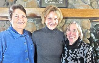 From left: Ellen Magnani, co-president, Trinkie Watson from the Lake Tahoe Music Festival and Georgine Casella, Program chair.
