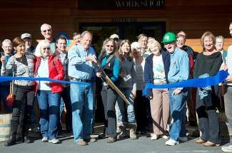 The Tahoe Rim Trail Association celebrates their move to new offices in Stateline, Nev.