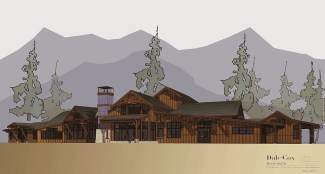A rendering of the new Tahoe Donner cross-country ski center that was approved Tuesday night by the town planning commission. It will be roughly 23 percent larger, at 10,220 square feet, than the existing structure to better accommodate users.