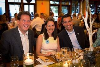 Nevada Lt. Gov Brian Krolicki, left, and Gov. Brian Sandoval, right, joined  Tahoe Fund CEO Amy Berry at the Tahoe Fund 2013 Founders Circle Summer Dinner.
