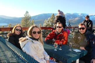 Shena and Curt Winslow and Ty and Rian Kalklosch enjoy a recent Last Tracks event at Diamond Peak.