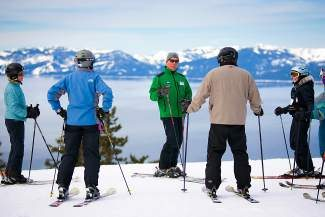A ski lesson provides tips on avoiding injuries, carving and turning on advanced-technology skis, and skiing safely.