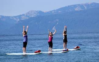 A stand-up paddleboard session on Lake Tahoe might be just what the doctor ordered.