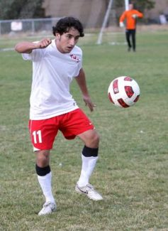 Truckee senior Rolando Zarate scored one of the Wolverines' two goals in a 2-1 win over Incline on Tuesday.