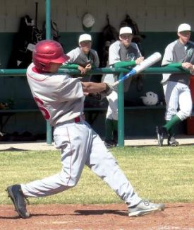 Johnny Spaich, pictured at Fallon in Truckee's first league series, had a single and stolen base in the Wolverines' 9-8 loss at Sparks on Tuesday.
