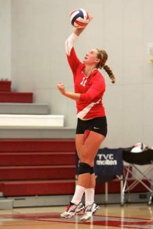 Truckee senior Mackenzie Redner finished with 23 kills in a five-set win at South Tahoe on Friday.