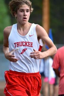 Truckee junior Noah Oberriter, shown in a cross-country meet this past fall, recorded a 13th-place finish in the mile and 10th-place finish in the 3,000-meter run at the Del Oro Invitational.