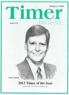 Vomund's caricature on the cover of Timer Digest.