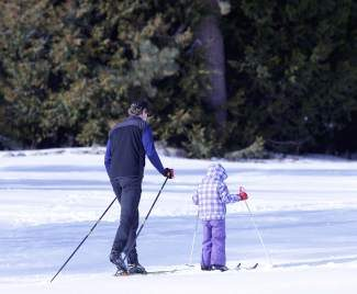 The Tahoe City Winter Sports Park offers cross-country skiing, along with snowshoeing, walking and sledding in the heart of Tahoe City.
