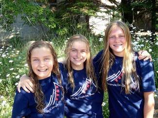 Truckee Tahoe Swim Team members Rebecca Waterson, Ally Lockard and Kate Rye from Incline Village recently competed in the Sierra Nevada Swimming Long Course Junior Olympics.