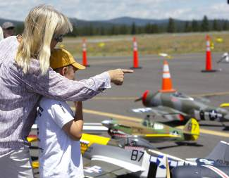 Model airplanes at the Truckee Tahoe AirShow & Family Festival also attracted a lot of attention.
