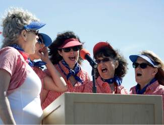The Mountain Belles performed the national anthem at the fourth annual Truckee Tahoe AirShow & Family Festival.
