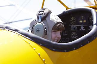 """World War II triple-ace fighter pilot Col. Clarence """"Bud"""" Anderson will be the honorary guest speaker at his year's Truckee Tahoe Air Show and Family Festival."""