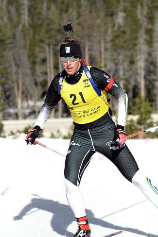 Auburn Ski Club athlete Patrick Johnson was one of the top competitors in the U.S. Winter Biathlon National Championships.