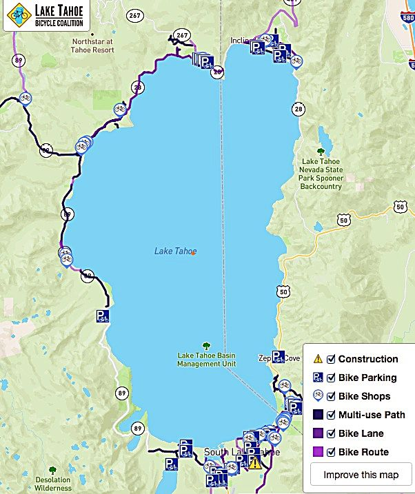 Lake Tahoe biking: Coalition debuts interactive map for cycling area ...
