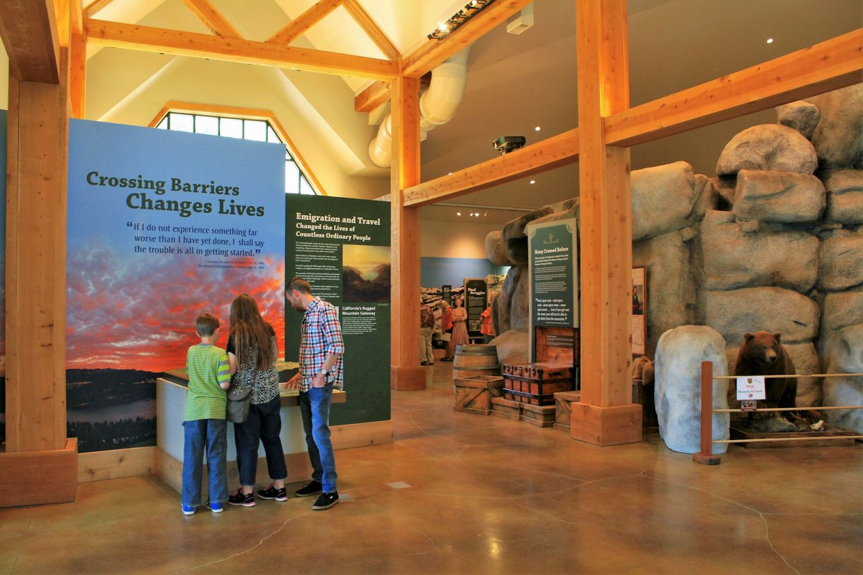 The visitor center's theme is Crossing Barriers Changing Lives. The center includes exhibits, displays, interactive kiosks and more.