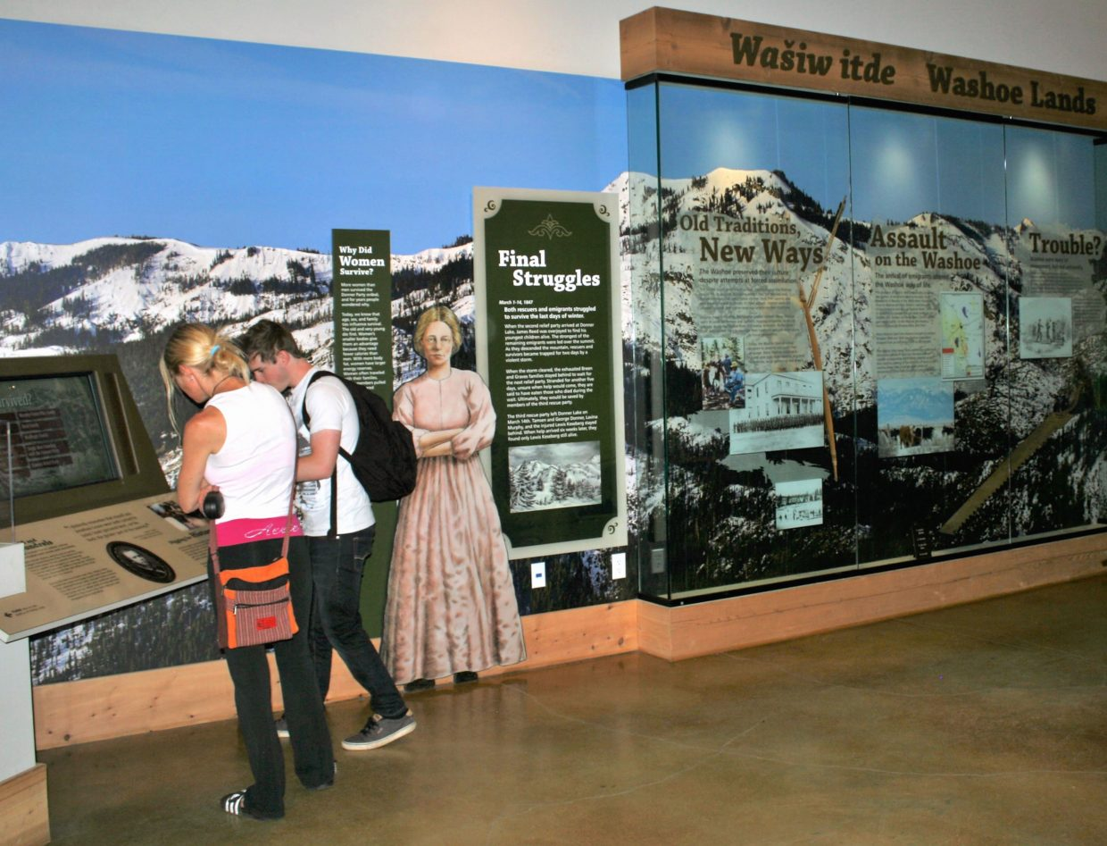 The visitor center sees an average of 7,000 people visit the center each month during the summer.