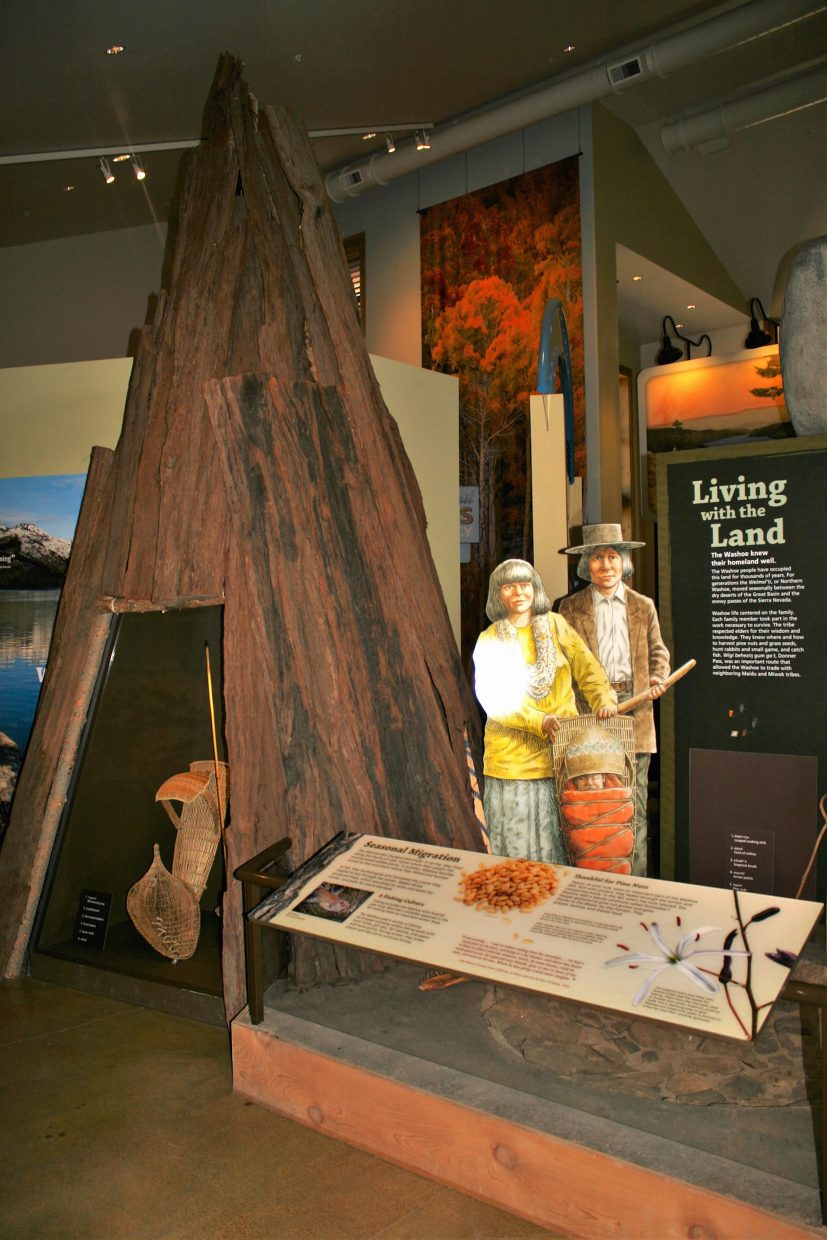 The center includes an exhibit on the history and culture of the Washoe natives, who have occupied the land for thousands of years.