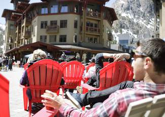 On Saturday, people gathered to listen to musical performances, which was part of Tahoe Truckee Earth Day Festival at the Village at Squaw Valley