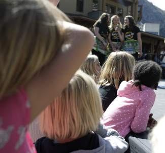 """The annual """"Trashion Show"""" drew a large crowd, including many youth."""