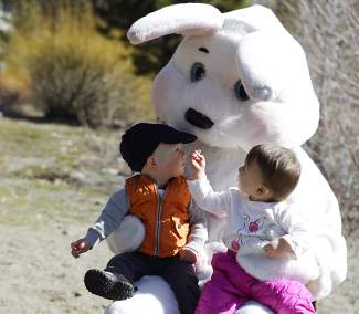 The Easter Bunny also made an appearance, sitting for photos with children.