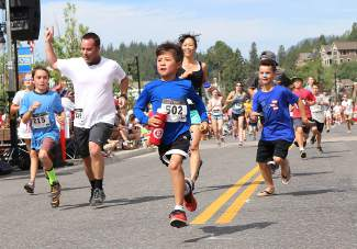 Nearly 600 people participated in the annual Firecracker Mile fun run before the Truckee 4th of July Parade on Saturday.