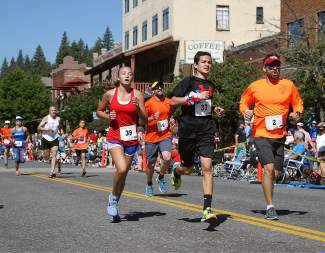 Nearly 700 people participated in the annual Firecracker Mile fun run before the Truckee Fourth of July Parade.