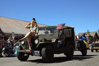 The Veterans Guest House based in Reno takes part in the Truckee Hometown Parade.
