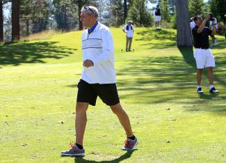 Former NFL quarterback Mark Rypien played in the Gene Upshaw Memorial Golf Classic at Schafer's Mill.