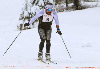 Nick Sterling of Truckee finishes third overall in the Great Ski Race on Sunday.