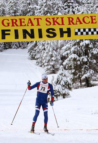 Wyatt Fereday wins the 39th Great Ski Race with a time of 1:30:55.