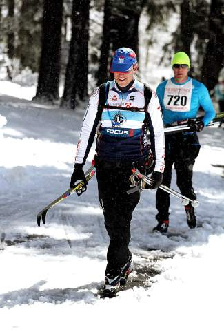Great Ski Race participants did have to walk at least one portion of the 30-kilometer course.