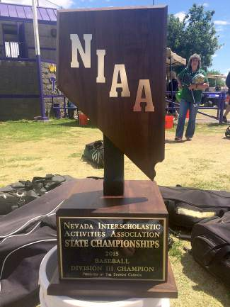 Incline's state championship trophy. The state title was Incline's second ever and first since 1975.