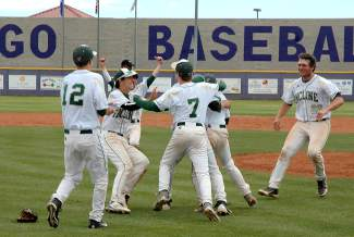 Incline baseball players celebrate their first state championship since 1975.