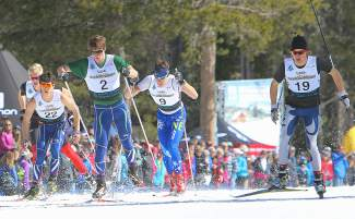 Some of the country's top junior Nordic ski racers compete in the sprint competition on the opening day of the U.S. Ski and Snowboard Association Cross Country Skiing Junior National Championships on Monday.