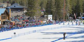 A large crowd was on hand for the opening day of Junior Nationals at Auburn Ski Club on Monday.