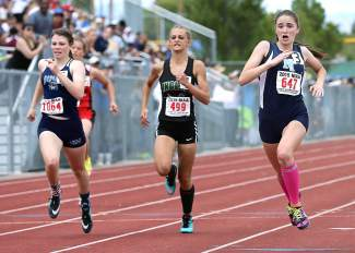North Tahoe junior Allison Wright wins the state title in the 200-meter dash.