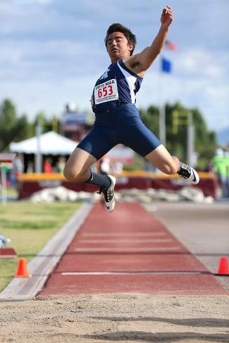 North Tahoe senior Brandon Hayakawa placed fifth in the long jump at the Division III state championships.