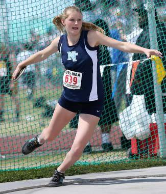 Junior thrower Jordan Briggs finished second in the discus with a personal-best throw of 110-09 in the state championships.