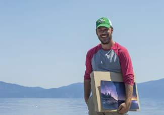 Born in Truckee and raised in North Lake Tahoe, Phil Mosby mounts a constellation-tracker device on his tripod when shooting photographs of the stars, giving him more control over the length of exposure and clarity of the image.