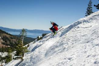 Ron Jockwood ripping with his skinny skis at the Mothership Classic.